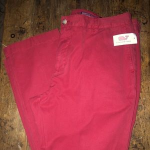 Vineyard Vines Channel Marker Red pants. NWT
